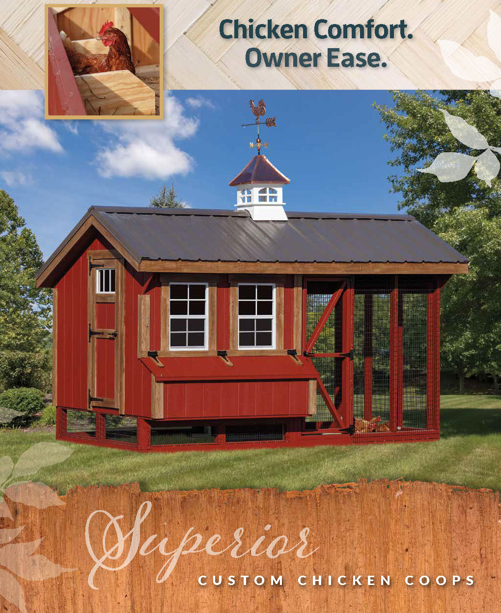 custom chicken coops