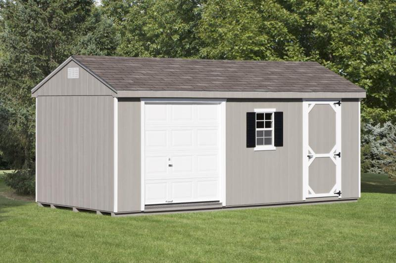 Cottage Style Single Car Garage.