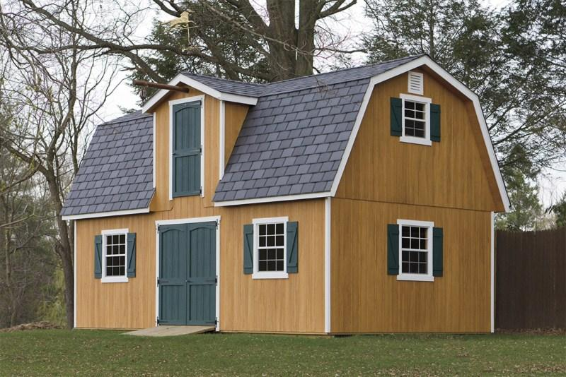 Two-Story Dutch Barn Style Shed.