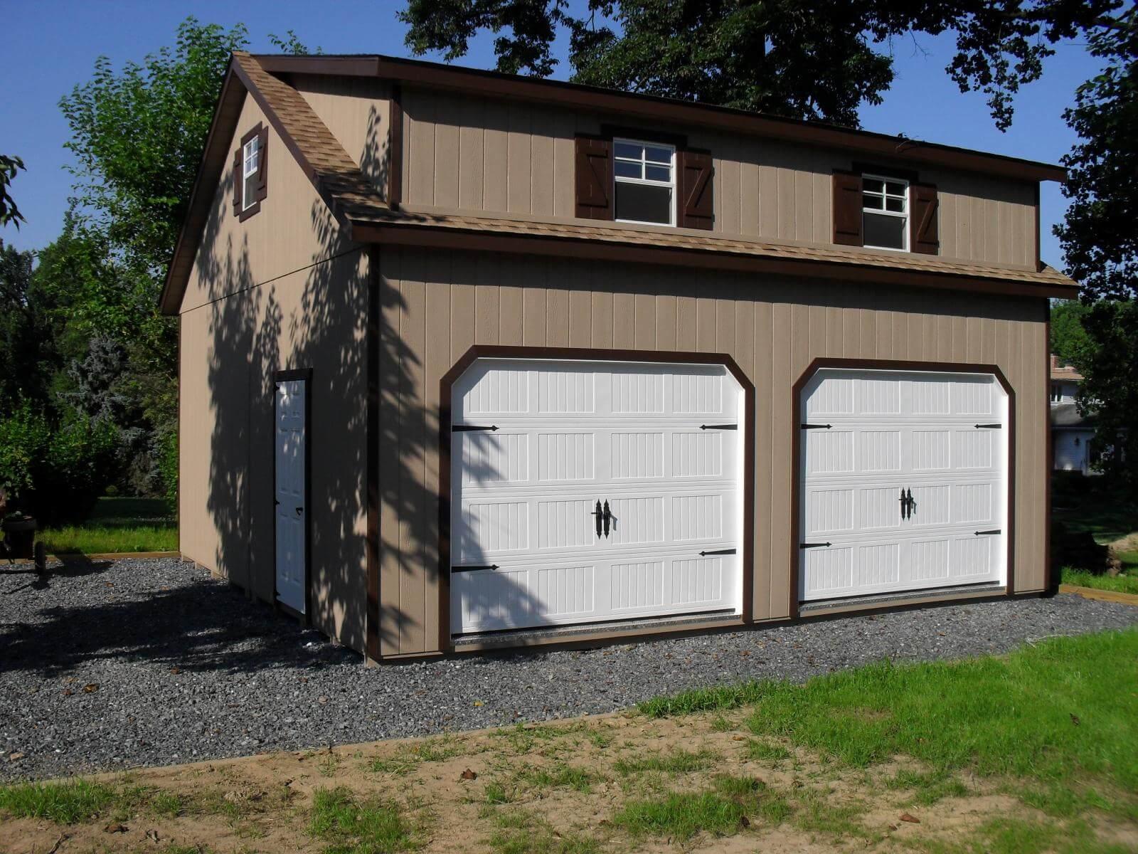 Doublewide 2-Story Garage.