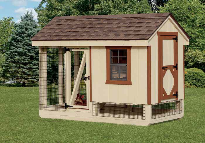 A-Frame Combination chicken coop.