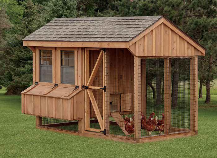 Quaker Combination Chicken Coop.