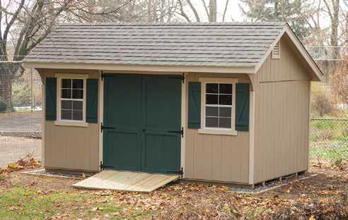 Classic Garden Quaker Style Shed.