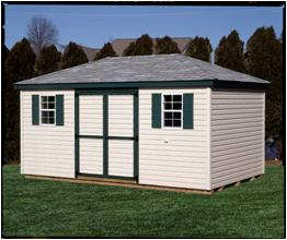 Hip Roof Style Shed.