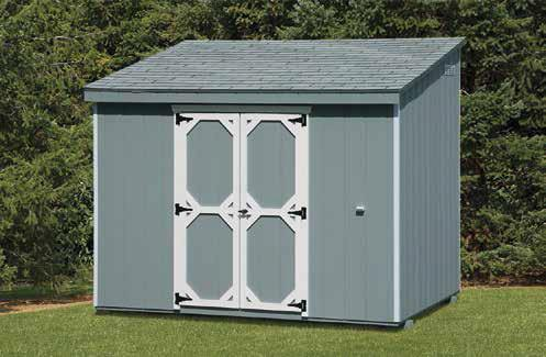 Lean-To Style Shed.