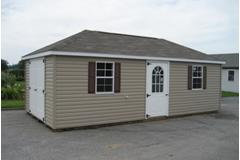 12 x 24 Hip Roof Vinyl Shed