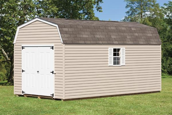 Tan Dutch Barn Shed