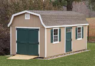 10'x20' Classic Garden Dutch Barn shed
