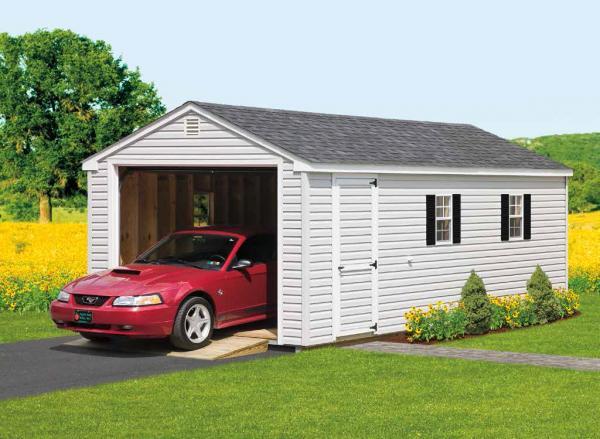 12'x24' Cottage 1-Car Garage