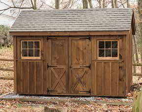 8'x12' Pine Cottage Shed