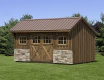 10'x16' Pine Quaker Shed
