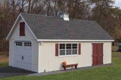 1-car garage with cupola