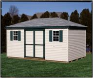 10 x 16 Hip Roof Vinyl Shed