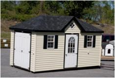 8 x 16 Hip Roof Vinyl Shed