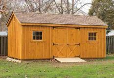 12'x20' Stained Pine Cottage Shed