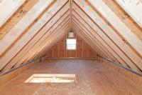 detached garage attic storage space