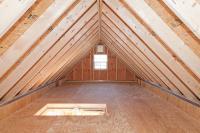 detached garage attic storage space