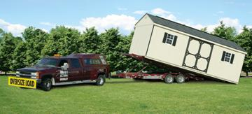 shed delivery truck